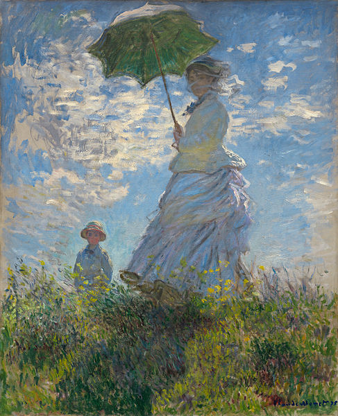 Woman-with-a-Parasol-by-Monet